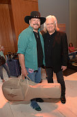 Buddy Jewell and Ricky Skaggs at the Samsung Galaxy Artist Lounge at the 2014 CMA Music Festival on June 5 2014 in Nashville Tennessee