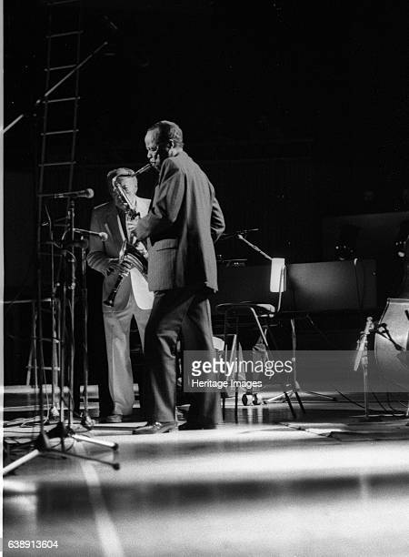 Buddy Tate and Woody Herman Capital Jazz Royal Festival Hall London July 1985 Artist Brian O'Connor