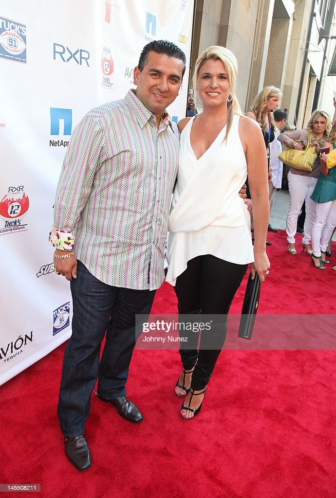 Buddy Valastro and Lisa Valastro attend the NY Giants Justin Tuck 4th Annual celebrity billiards tournament at Slate NYC on May 31, 2012 in New York City.