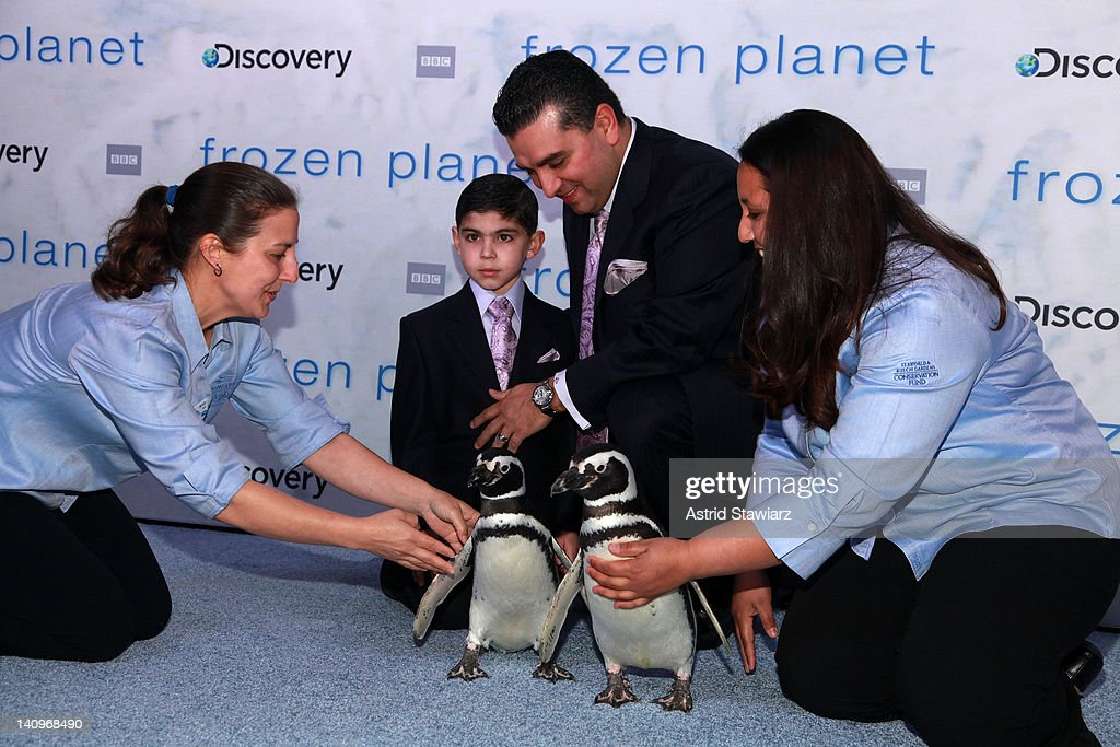 Buddy Valastro and son Buddy Valastro Jr. attend the 'Frozen Planet' premiere at Alice Tully Hall, Lincoln Center on March 8, 2012 in New York City.
