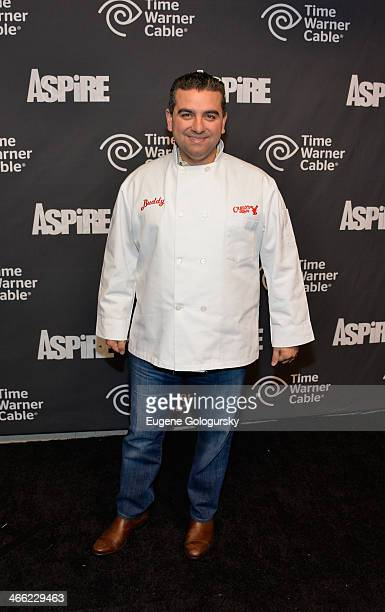 Buddy Valastro attends Time Warner Cable Studios And Aspire Bring Soul To The Big Game on January 31 2014 in New York City