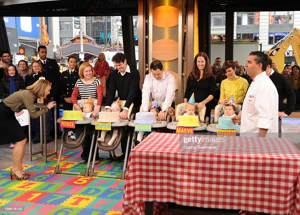 AMERICA - Buddy Valastro hosts a cake-smashing contest on 'Good Morning America,' 11/16/12, airing on the ABC Television Network. (Photo by Donna Svennevik/ABC via Getty Images) AMY