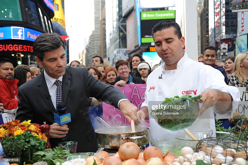 AMERICA - Buddy Valastro shares recipes on 'Good Morning America,' 11/16/12, airing on the ABC Television Network. (Photo by Donna Svennevik/ABC via Getty Images) GEORGE