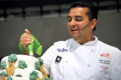 Buddy Valastro star of the television programme 'The Cake Boss' during a presentation at the Good Food and Wine show in on May 25 2012 in Cape Town...