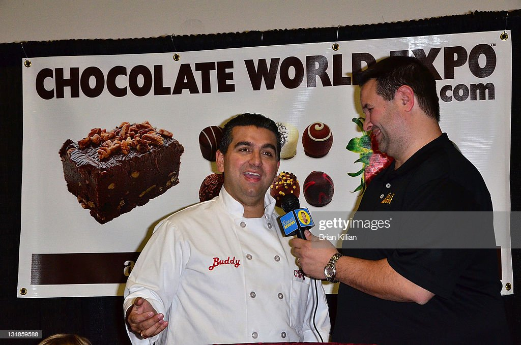 <a gi-track='captionPersonalityLinkClicked' href=/galleries/search?phrase=Buddy+Valastro&family=editorial&specificpeople=5810322 ng-click='$event.stopPropagation()'>Buddy Valastro</a>, 'The Cake Boss', promotes the book 'Baking Cake With The Boss' during the 2011 Chocolate World Expo at the Meadowlands Exposition Center on December 4, 2011 in Secaucus, New Jersey.