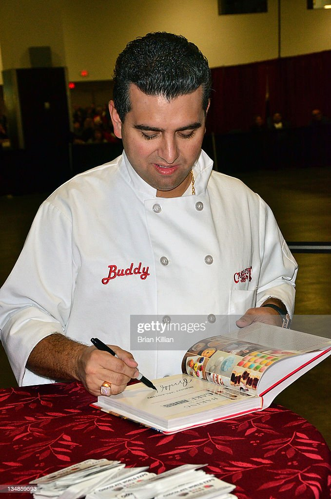 Buddy Valastro, 'The Cake Boss', promotes the book 'Baking Cake With The Boss' during the 2011 Chocolate World Expo at the Meadowlands Exposition Center on December 4, 2011 in Secaucus, New Jersey.