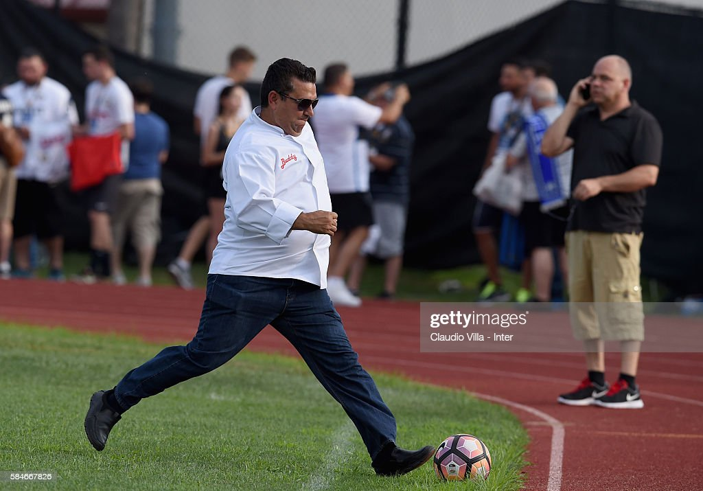 Buddy Valestro attends the FC Internazionale training session at Montclair State University on July 29 2016 in Montclair United States