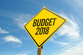 Budget 2018 road sign