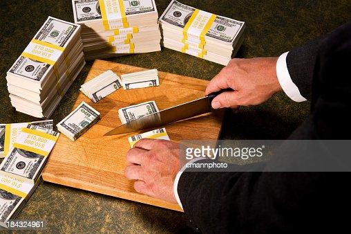 Orçamento Cortar-Congressista de pilhas de Dinheiro