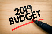 Business concept 2019 budget for new business.