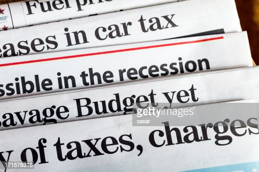 Budget, recession & taxes