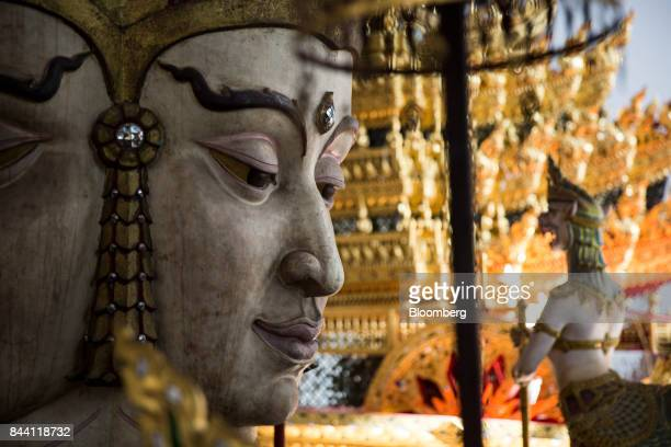 A budha for the cremation ceremony of King Bhumibol Adulyadej sits at the Bangkok National Museum in Bangkok Thailand on Friday Sept 8 2017 The...
