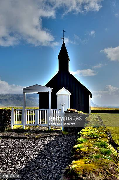 Budir Church Snaefellsnes peninsula Iceland