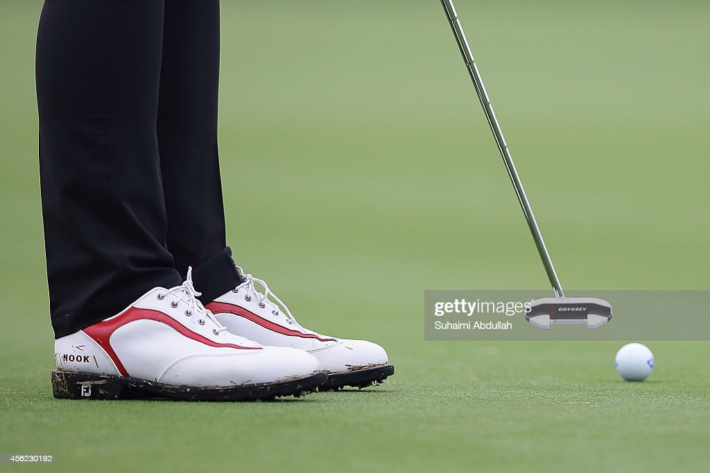 Budsabakom Sukapan of Thailand plays a shot on the green during the golf women's individual round 4 on day nine of the 2014 Asian Games at Dream Park...