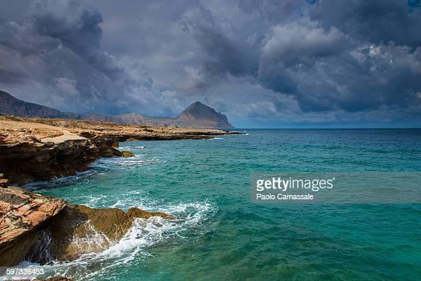 Bue Marino bay in Sicily