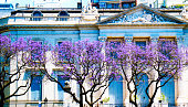 Paisagem urbana em Buenos Aires, caminho para Recoleta.