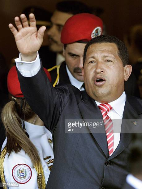 Venezuelan President Hugo Chavez arrives in Buenos Aires in a flight from Brasilia on December 7th where he is due to meet Argentine President Nestor...