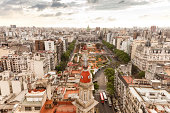 Aerial photo. Panorama of Buenos Aires with different architectural  buildings
