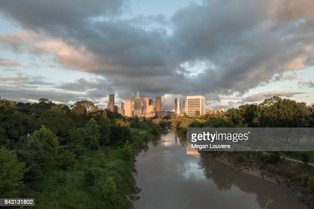 Buffalo Bayou Houston Skyline