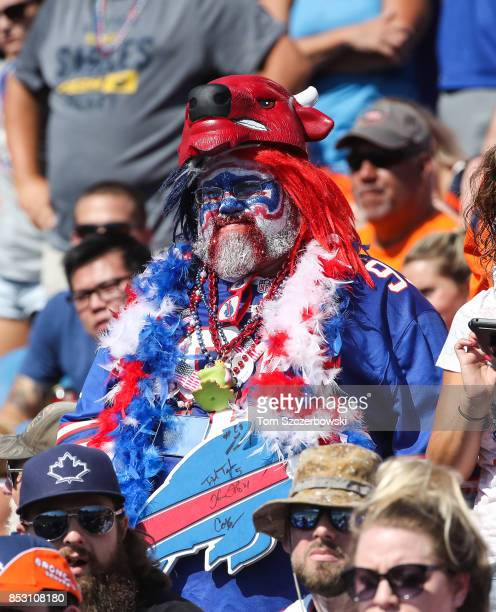 Buffalo Bills fan during an NFL game against the Denver Broncos on September 24 2017 at New Era Field in Orchard Park New York