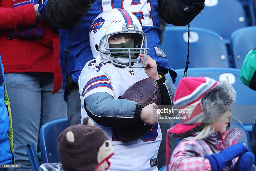 A Buffalo Bills fan watches from the stands during the second half against the Cleveland Browns at New Era Field on December 18, 2016 in Orchard Park, New York.
