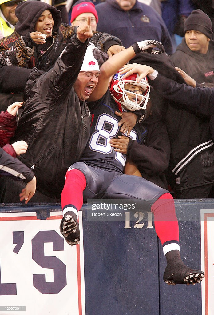 Buffalo Bills Josh Reed after scoring a TD during the game against the Miami Dolphins at Ralph Wilson Stadium in Orchard Park New York on Dec 17 2006...