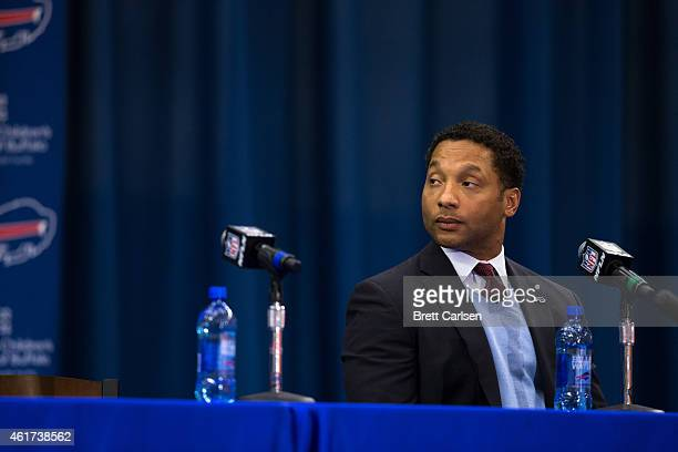 Buffalo Bills Manager Doug Whaley attends a press conference announcing Rex Ryan's arrival as head coach of the Buffalo Bills on January 14 2015 at...