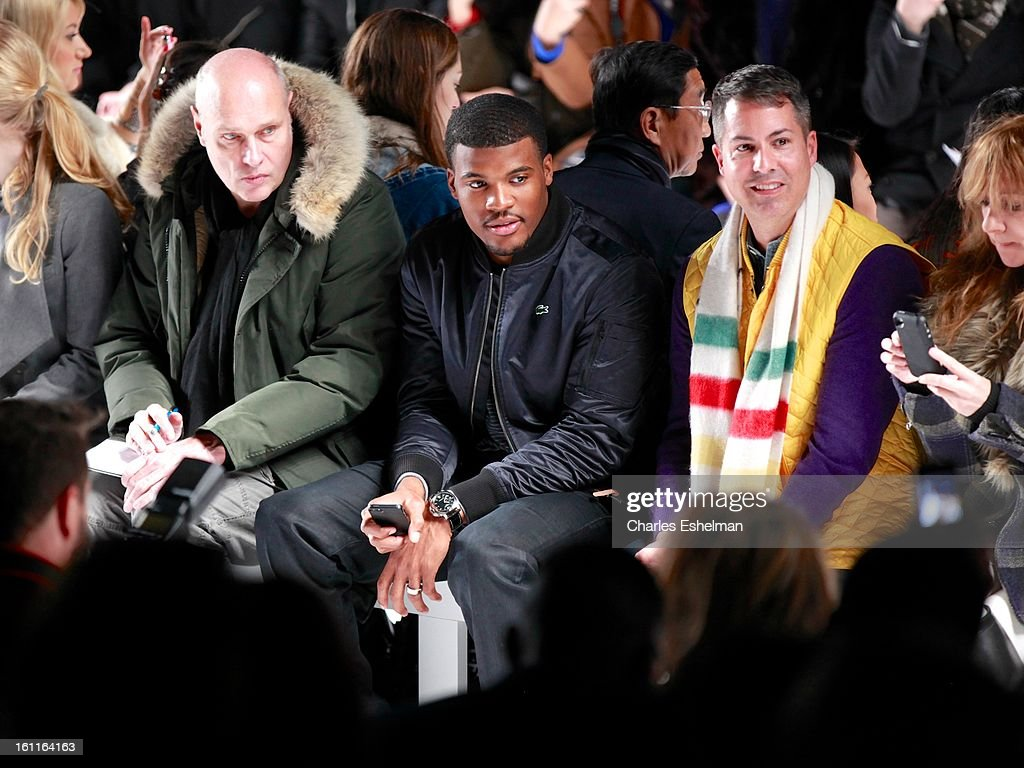Buffalo Bills quarterback Brad Smith attends the Lacoste Fall 2013 Mercedes-Benz Fashion Show at The Theater at Lincoln Center on February 9, 2013 in New York City.