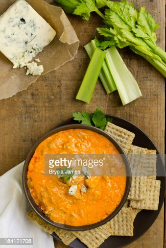 Buffalo Chicken Wing Dip from Above
