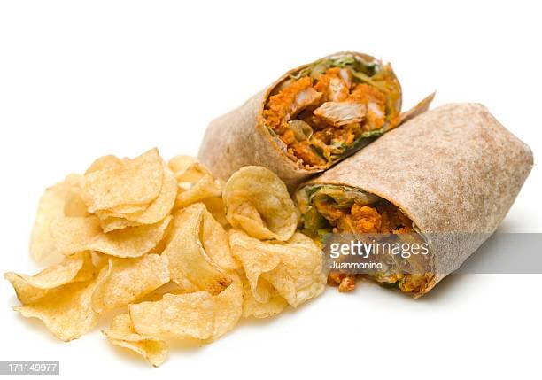 buffalo chicken wrap and chips