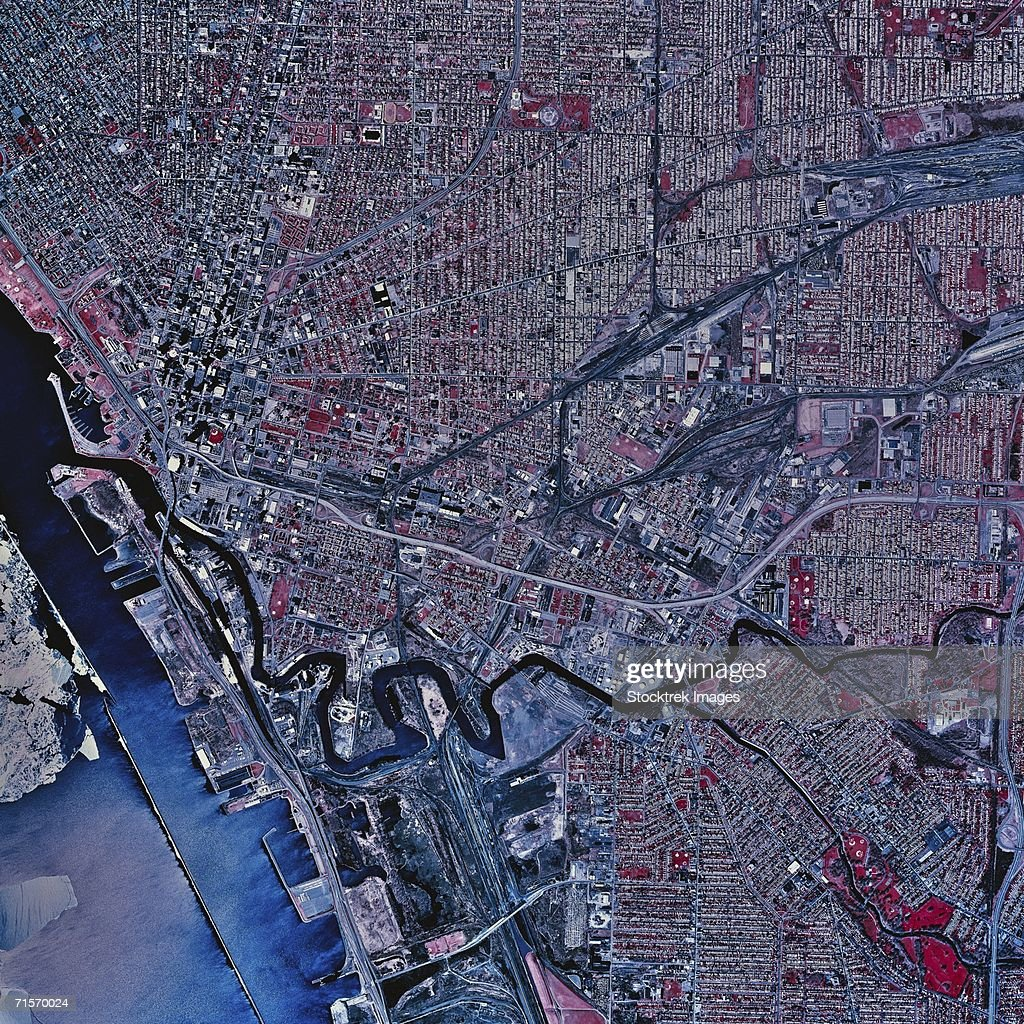 'Buffalo, New York, satellite image'