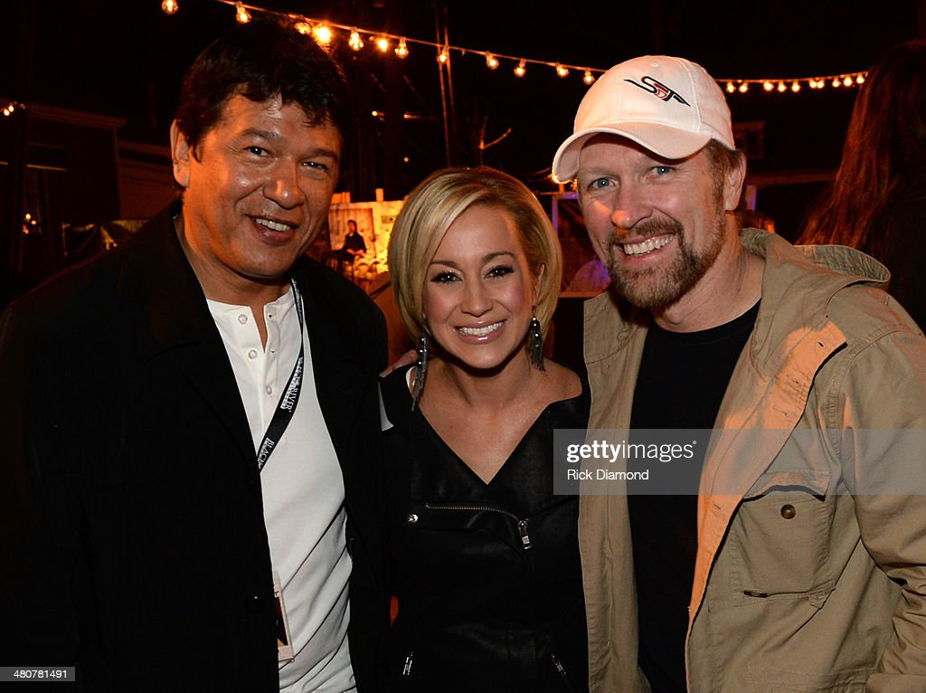 Buffalo Sabres coach Ted Nolan and Black River Entertainment recording artists Kellie Pickler and Craig Morgan attend Buffalo Sabres At Black River...