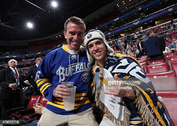 Buffalo Sabres fans show their support prior to Round One of the 2015 NHL Draft at BBT Center on June 26 2015 in Sunrise Florida