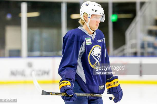Buffalo Sabres Left Wing Alexander Nylander looks on during onice practice at the Buffalo Sabres Development Camp on July 10 at HarborCenter in...
