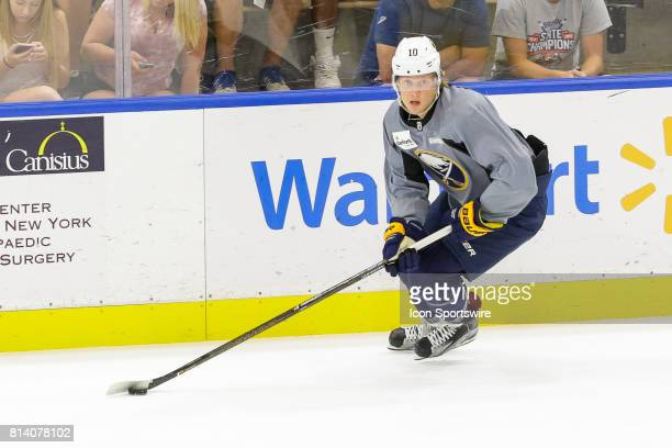 Buffalo Sabres Left Wing Alexander Nylander looks to pass during the French Connection Tournament at the Buffalo Sabres Development Camp on July 11...