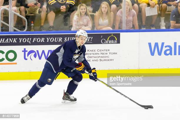 Buffalo Sabres Left Wing Brandon Hagel looks to pass during the French Connection Tournament at the Buffalo Sabres Development Camp on July 11 at...
