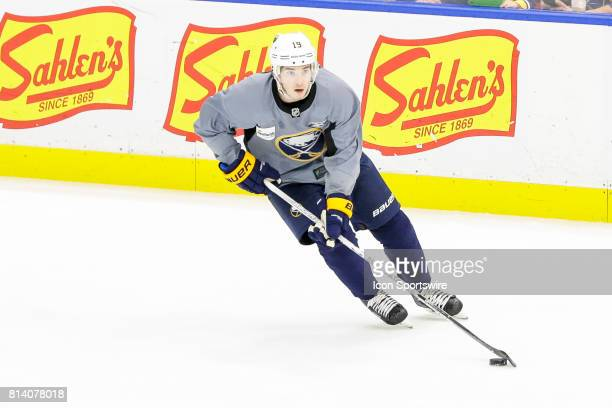 Buffalo Sabres Left Wing CJ Smith skates with the puck during the French Connection Tournament at the Buffalo Sabres Development Camp on July 11 at...