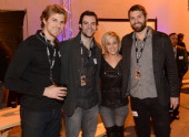 Buffalo Sabres players Marcus Foligno and Drew Stafford Black River Entertainment recording artist Kellie Pickler and Buffalo Sabres player Mark...