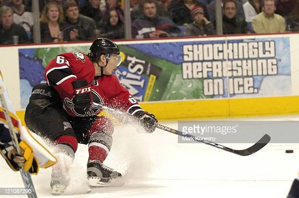 Buffalo Sabres right wing Maxim Afinogenov in action during a game against the Florida Panthers at HSBC Arena in Buffalo New York on February 11 2006...