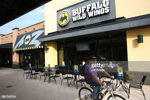 Buffalo Wild Wings restaurant is seen on November 28 2017 in Miami Florida Today Arby's Restaurant Group announced it reached a deal to acquire...