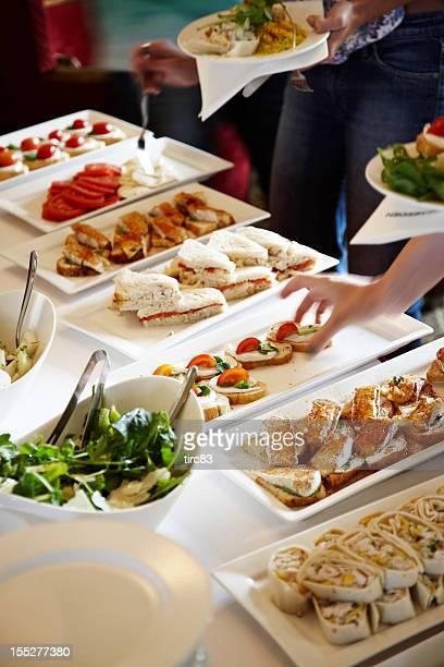 Buffet lunch serving