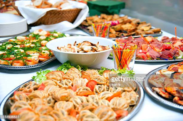 buffet with puff pastry