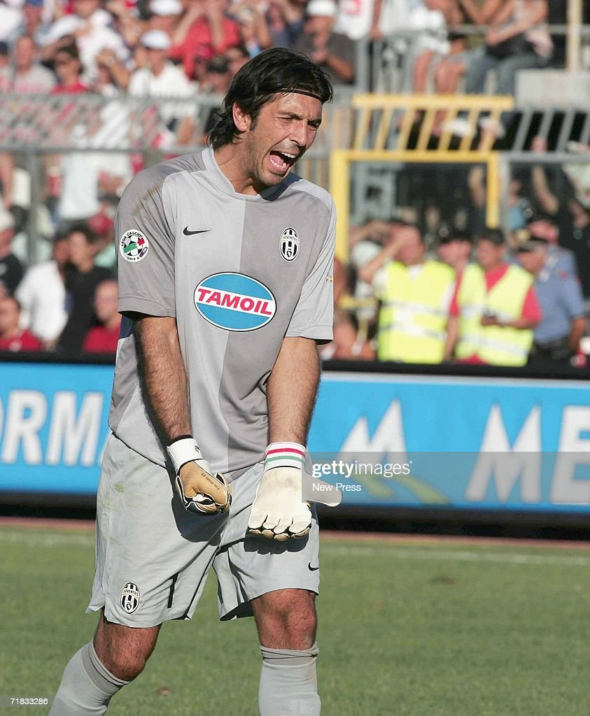 Buffon of Juventus reacts during the Serie B match between Rimini and Juventus at the Romeo Neri stadium, September 9, 2006 in Rimini, Italy.