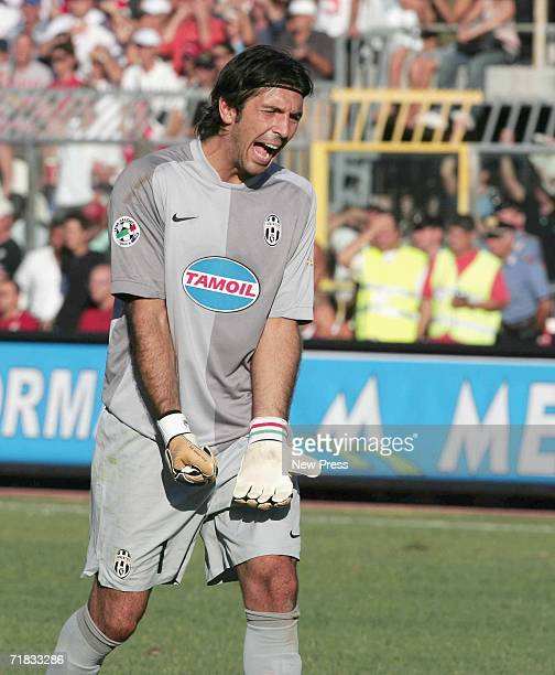Buffon of Juventus reacts during the Serie B match between Rimini and Juventus at the Romeo Neri stadium September 9 2006 in Rimini Italy
