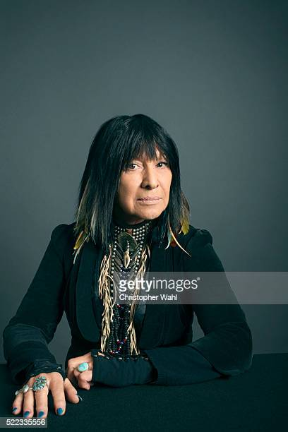 Buffy St Marie is photographed at the 2016 Juno Awards for The Globe and Mail on April 3 2016 in Calgary Alberta