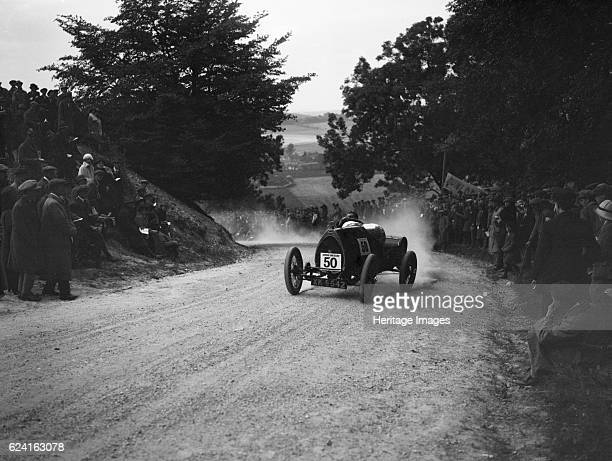 Bugatti Brescia competing in a JCC hillclimb South Harting Sussex 1922 Artist Bill BrunellBugatti Brescia 1496 cc Vehicle Reg No XK5542 Event Entry...