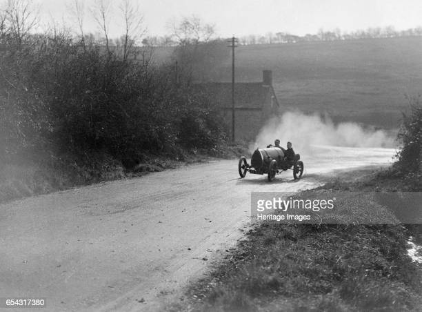 Bugatti Brescia competing in the MAC Shelsley Walsh Hillclimb Worcestershire 1920s Artist Bill Brunell Bugatti Brescia 1496 cc Place MAC Shelsley...
