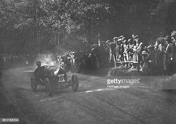 Bugatti Brescia of Raymond Mays competing in the MAC Shelsley Walsh Hillclimb Worcestershire 1923 Artist Bill BrunellBugatti Brescia 1496 cc Reg No...
