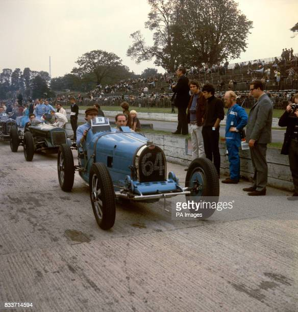 A bugatti entered and driven by EN Ferris in a cavalcade of racing cars of all ages on the Crystal Palace circuit It won the VSCC Seaman Trophy five...