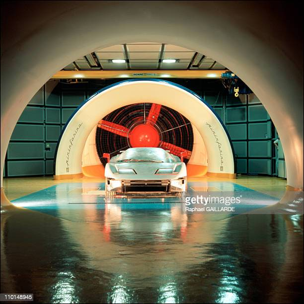 Bugatti factory and the project EB 110 in Italy in August 1991 The EB 110 Bugatti during the test in wind tunnel